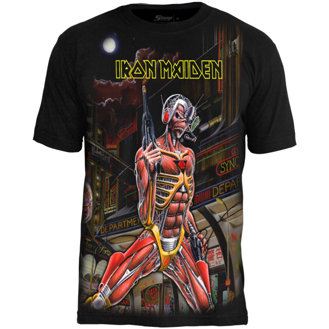 Camiseta Premium Iron Maiden Somewhere in Time