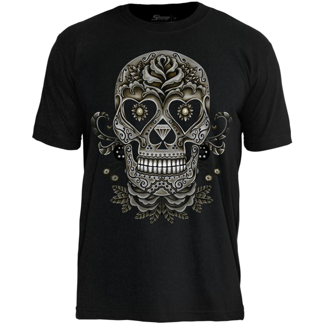 Camiseta Tattoo Skull And Roses