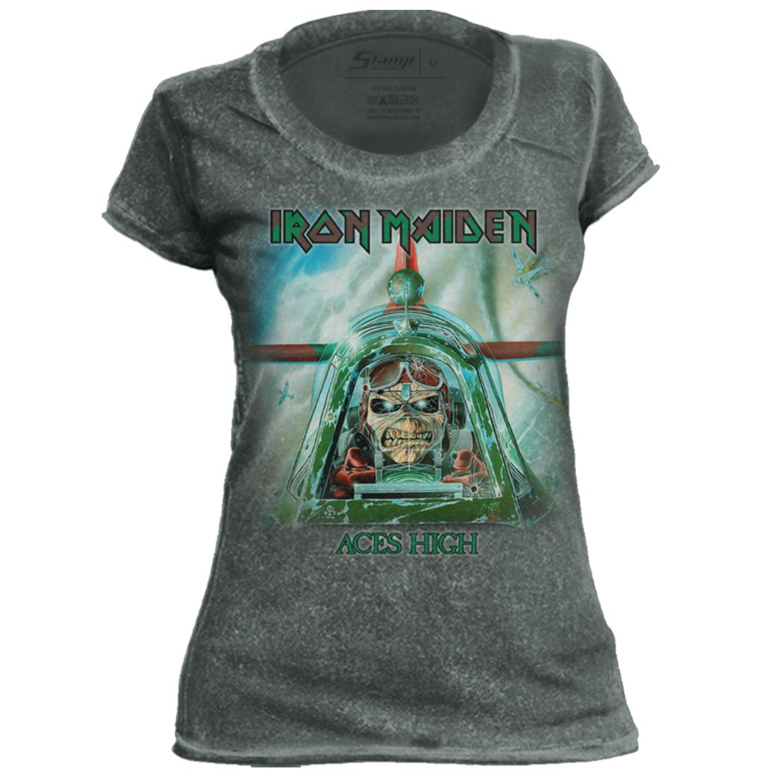 Camiseta Feminina Especial Iron Maiden Aces High