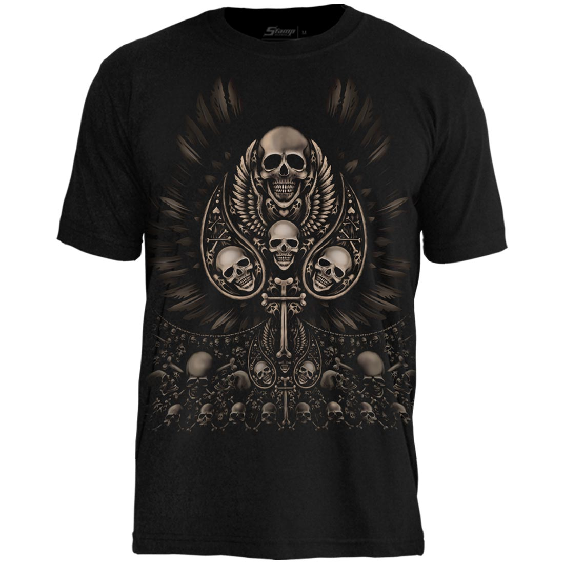 Camiseta Tattoo Caveiras