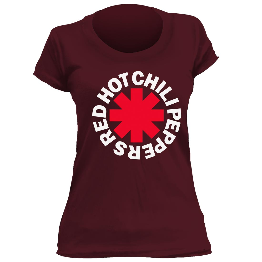 Camiseta Feminina Red Hot Chili Peppers- Vinho