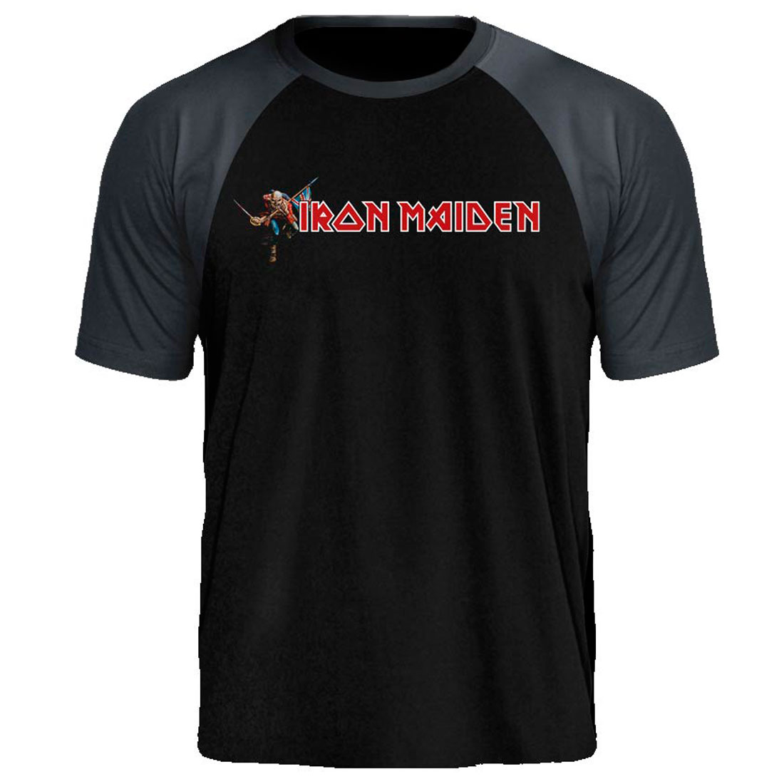 Camiseta Raglan Iron Maiden The Trooper