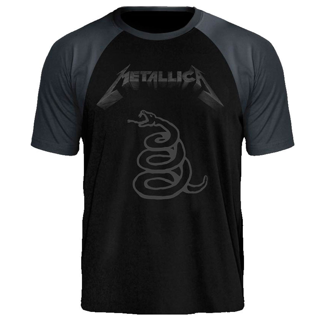 Camiseta Raglan Metallica Black Album