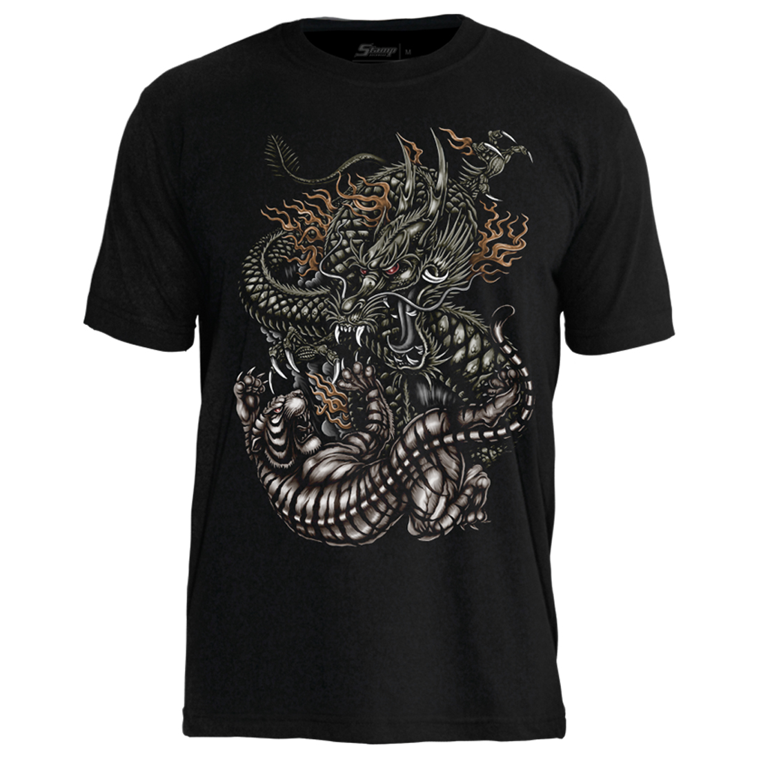 Camiseta Tattoo Tiger And Dragon